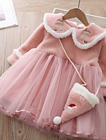 cheap -Toddler Girls' Animal Dress Blushing Pink