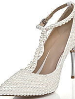 cheap -Women's Heels Stiletto Heel Pointed Toe Rhinestone Cowhide British / Minimalism Spring & Summer / Fall & Winter Silver / Party & Evening