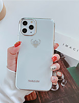 cheap -Case For Apple iPhone 11 / iPhone 11 Pro / iPhone 11 Pro Max Plating / Pattern Back Cover Animal TPU