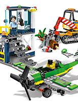 abordables -Blocs de Construction 642 pcs Moto Avion compatible Legoing Simulation Moto Véhicule de Construction Avion Tous Jouet Cadeau / Enfant