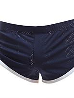 cheap -Men's Mesh Boxers Underwear - Normal Mid Waist Black Light Blue White M L XL