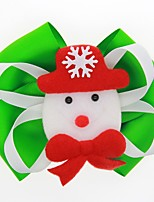 cheap -Kids / Toddler / Newborn Unisex / Girls' Active / Sweet Snowman Cartoon Bow Nylon Hair Accessories Black / Red / Green One-Size