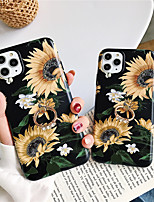 cheap -Case For Apple iPhone 11 / iPhone 11 Pro / iPhone 11 Pro Max Ring Holder / Pattern Back Cover Flower TPU X XS XSmax XR 6 6plus 6splus 6s 7 7plus 8 8plus