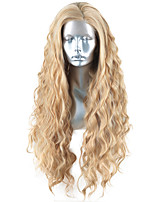 cheap -Synthetic Lace Front Wig Body Wave Side Part Lace Front Wig Long Blonde Synthetic Hair 18-26 inch Women's Heat Resistant Synthetic Easy dressing Blonde / Natural Hairline
