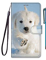 cheap -Case For Samsung Galaxy S10 / S10 Plus / S10 E Wallet / Card Holder / with Stand Snow Puppy PU Leather / TPU for A10s / A20s / A50(2019) / A70(2019) / A90(2019) / Note 10 Plus / J6 Plus(2018)