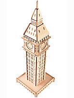 cheap -3D Puzzle Wooden Puzzle Big Ben Simulation Hand-made Wooden 62 pcs Kid's Adults' All Toy Gift