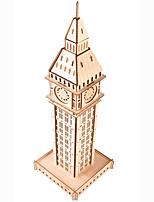 abordables -Puzzles 3D Puzzles en bois Big Ben Simulation Fait à la main En bois 62 pcs Enfant Adulte Tous Jouet Cadeau