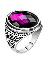 cheap -Couple's Band Ring 1pc Black Purple Yellow Alloy Geometric Punk Trendy Daily Jewelry Geometrical Hope Cool