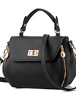 cheap -Women's Rivet Faux Leather / PU Top Handle Bag Solid Color Black / Sky Blue / Purple