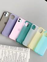 abordables -cas pour apple scène carte iphone 11 x xs xr xs max 8 nouveau design sans bordure de couleur bonbon mat tpu matériel translucide étui de téléphone portable