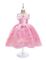 cheap -Princess Dress Masquerade Flower Girl Dress Girls' Movie Cosplay A-Line Slip Cosplay Halloween Pink Dress Halloween Carnival Masquerade Tulle Polyster