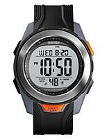 cheap -SKMEI Men's Digital Watch Digital Sporty PU Leather Black 50 m Water Resistant / Waterproof Chronograph Hollow Engraving Digital Outdoor - Black Black / White Black / Silver Two Years Battery Life
