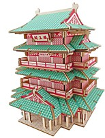 cheap -3D Puzzle Wooden Puzzle Famous buildings Simulation Hand-made Wooden 245 pcs Kid's Adults' All Toy Gift