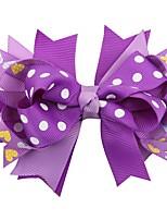 cheap -Kids / Toddler / Newborn Unisex / Girls' Active / Sweet Snowman Cartoon Bow Nylon Hair Accessories White / Purple / Blue One-Size