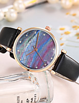 cheap -Women's Quartz Watches Casual Fashion Black White Red PU Leather Quartz Black White Blushing Pink New Design Casual Watch Adorable Analog