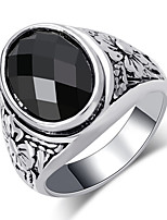 cheap -Couple's Band Ring 1pc Black Red Alloy Geometric Punk Trendy Daily Jewelry Geometrical Hope Cool
