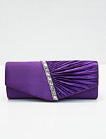 cheap -Women's Sequin / Glitter Nylon Evening Bag Solid Color Black / White / Purple