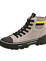cheap -Women's Boots Flat Heel Round Toe PU Booties / Ankle Boots Winter Black / Beige / Khaki