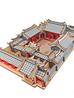 cheap -3D Puzzle Wooden Puzzle Chinese Architecture Simulation Hand-made Wooden 246/161/127/179 pcs Kid's Adults' All Toy Gift