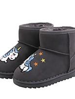cheap -Girls' Snow Boots PU Boots Little Kids(4-7ys) Black / Pink / Gray Winter / Mid-Calf Boots