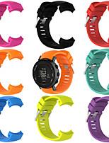 Недорогие -Ремешок для часов для SUUNTO CORE ALU Black Suunto Спортивный ремешок силиконовый Повязка на запястье