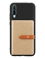 cheap -Case For Huawei Honor 10 Lite / Honor V20 / Honor 10i Card Holder / with Stand / Ultra-thin Back Cover Solid Colored PU Leather / TPU