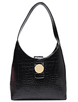 cheap -Women's Zipper / Chain PU Top Handle Bag Solid Color Black / Brown / Red