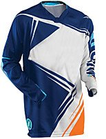 cheap -21Grams Men's Long Sleeve Cycling Jersey Downhill Jersey Dirt Bike Jersey Winter 100% Polyester Blue / White Black / White Bike Jersey Top Mountain Bike MTB Road Bike Cycling Thermal / Warm UV