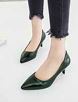 cheap -Women's Heels Stiletto Heel Pointed Toe PU Fall Black / Light Brown / White