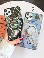 cheap -Case For Apple iPhone 11 / iPhone 11 Pro / iPhone 11 Pro Max with Stand / Plating / Pattern Back Cover Marble TPU X XS XSmax XR 6 6plus 6splus 6s 7 7plus 8 8plus