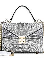 cheap -Women's Embossed PU Top Handle Bag Crocodile Black / Brown / White
