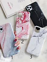 abordables -coque pour apple iphone 11 / iphone 11 pro / iphone 11 pro max dépoli / motif coque arrière marbre tpu x xs xsmax xr 6 6plus 6splus 6s 7 7plus 8 8plus