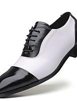 cheap -Men's Comfort Shoes PU Fall & Winter Oxfords Color Block Black / White / White / Blue