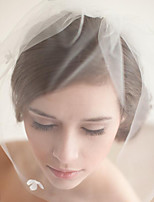 cheap -One-tier Classic Style / Lace Wedding Veil Blusher Veils / Fingertip Veils with Solid 23.62 in (60cm) POLY / Lace