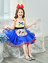 cheap -Bo Peep Dress Masquerade Flower Girl Dress Girls' Movie Cosplay A-Line Slip Cosplay Halloween Blue Dress Halloween Carnival Masquerade Tulle Polyester