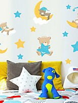 cheap -Decorative Wall Stickers - Plane Wall Stickers Bears / Stars Nursery / Kids Room