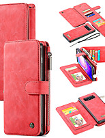 cheap -New Slot Zip Wallet Leather Case for Samsung Note8 / 9/10 Plus Magnetic Adsorption SamsungS8 / S9 S10 Plus Lite 5G Durable Mobile Phone Case