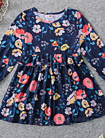 cheap -Toddler Girls' Color Block Dress Blue