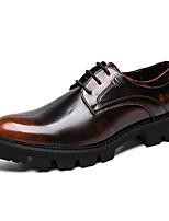 cheap -Men's Formal Shoes PU Spring & Summer / Fall & Winter Vintage / British Oxfords Walking Shoes Non-slipping Black / Orange / Black / Red / Wedding