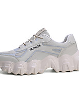 cheap -Men's Chunky Sneakers Canvas Winter Casual Sneakers White / Blue / Beige