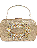 cheap -Women's Crystals / Glitter Synthetic Evening Bag Solid Color Black / Gold / Silver