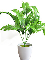 cheap -Artificial Persian Leaf Green Plant Simulation Artificial Fern Home Decoration