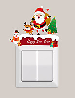 cheap -Christmas snowman Santa Decorations Light Switch Stickers - Animal Wall Stickers / Holiday Wall Stickers Animals Living Room / Kids Room