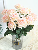 cheap -Beautiful Rose Artificial Flowers Silk Small Bouquet Party Spring Wedding Decoration Fake Flower