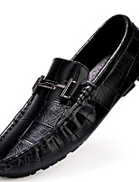 cheap -Men's Formal Shoes Cowhide Spring / Fall & Winter Casual / British Loafers & Slip-Ons Non-slipping Black / Brown / White