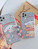 cheap -Case for Apple scene map iPhone 11 X XS XR XS Max 8 cute cartoon Bear pattern high transparent thickened TPU material all-inclusive mobile phone case GJD