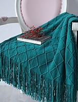 cheap -Multifunctional Blankets, Solid Color Acrylic Fibers Comfy Blankets