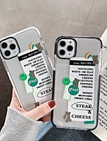 cheap -Case For Apple iPhone 11 / iPhone 11 Pro / iPhone 11 Pro Max Shockproof Back Cover Word / Phrase / Transparent TPU