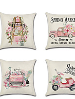 cheap -1pcs Spring Pillowcase Pink Cute Truck Digital Printed Linen