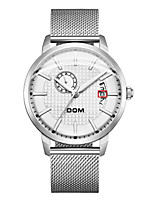 cheap -Men's Mechanical Watch Japanese Automatic self-winding Stylish Stainless Steel Black / White 30 m Water Resistant / Waterproof Hollow Engraving New Design Analog Fashion - Black White